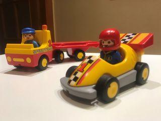 Playmobil 123 Coche de carreras con transporte
