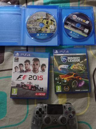 4 video juegos de Playstation 4