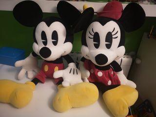 muñecos de peluche mickey y minie