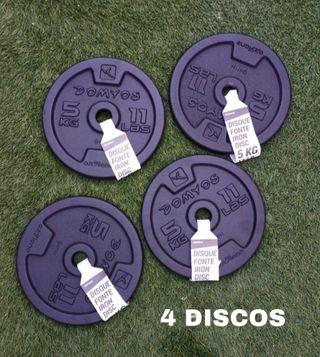 4 discos de 5kg PESAS (Envío GRATIS*)