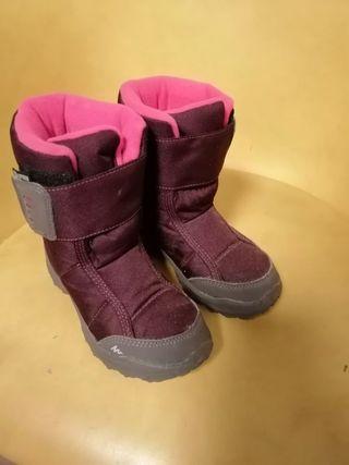 botas nieve descansos decathlon niña 28