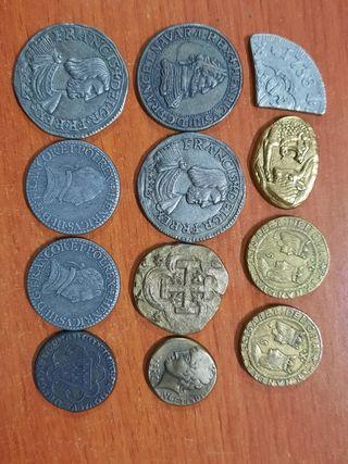 12 monedas reediciones de antiguas