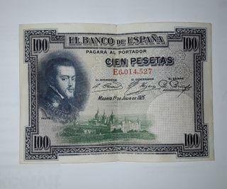 Billete antiguo 100 pesetas