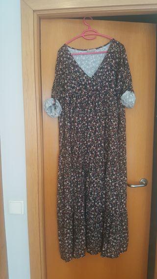 vestido largo de algodón talla xl