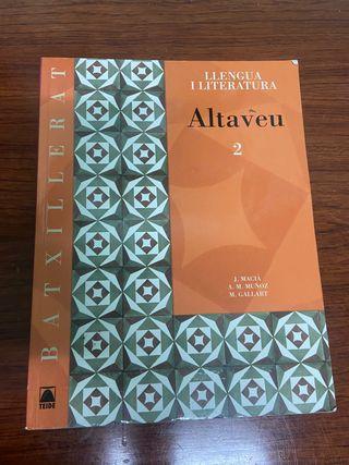 Llengua catalana i literatura. Altaveu 2 Batx.