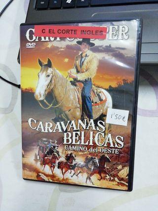 Caravanas bélicas camino del oeste. Peli DVD.
