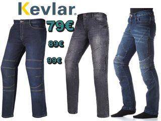 Vaqueros Jeans Kevlar y protecciones chico chica