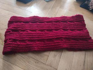 bufanda abrigada roja