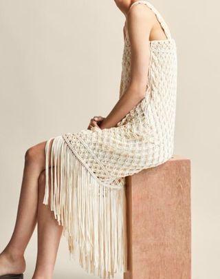 vestido crochet Massimo Dutti