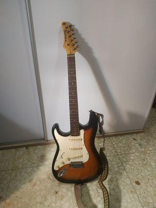 guitarra eléctrica zurdo