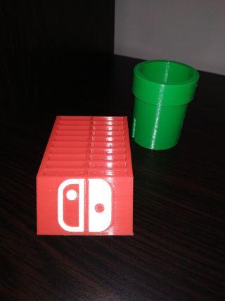 Soporte cartuchos Nintendo Switch.