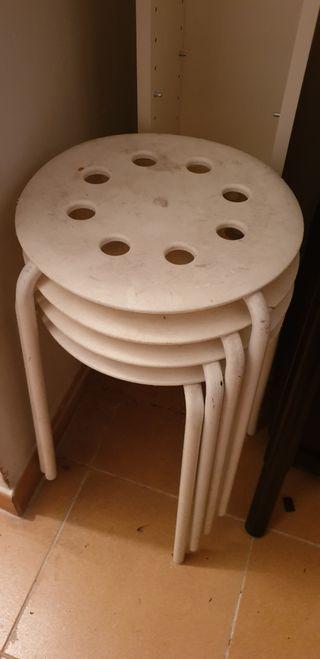 taburetes metalicos blancos Marius Ikea