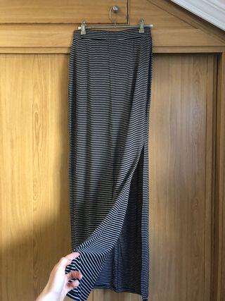 Falda larga punto rayas Pull&bear S
