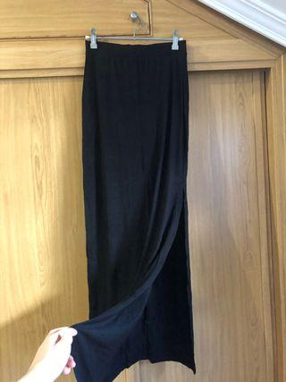 Falda larga punto negra Pull&bear S