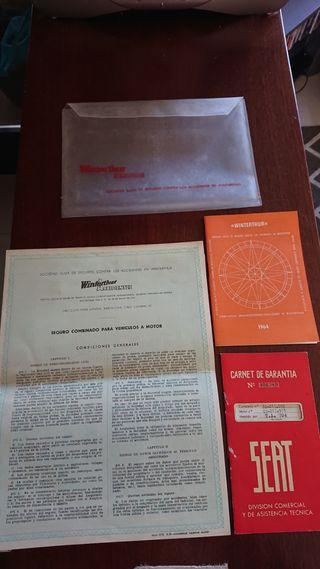 Carnet garantía Seat y póliza Winterthur seguros