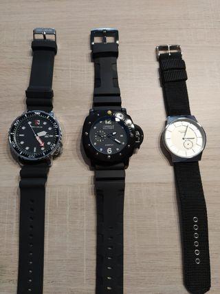 relojes los 3 militar,deportivo y de vestir
