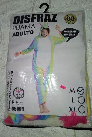 Pijama mono de unicornio multicolor