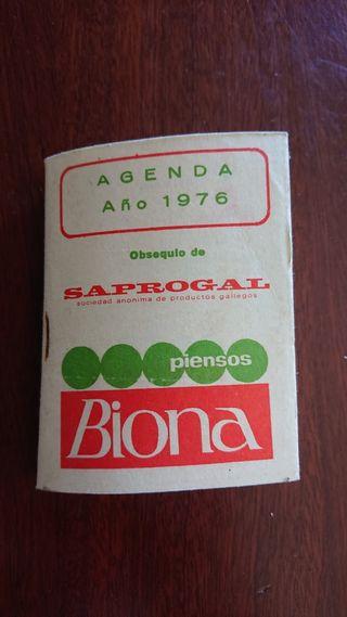 Agenda Piensos Biona distribuida por Saprogal
