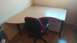Mesa oficina+silla+archivador