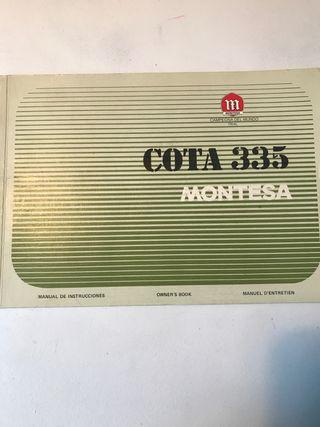 Manual de instrucciones montesa cota 335