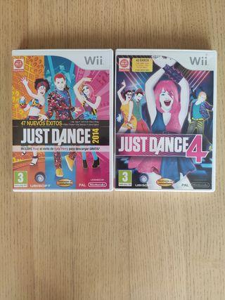 Just Dance Wii 4 y Just Dance Wii 2014