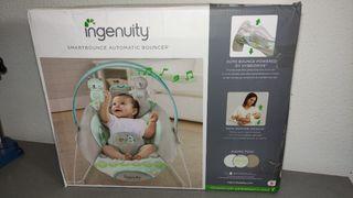 Hamaca bebé con balanceo automático. INGENUITY