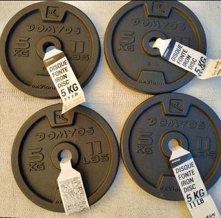 4 discos de 5kg (Envío GRATIS* y MUY RÁPIDO)