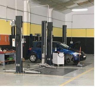 Elevador de coches Taller 2 Columnas Monofasico