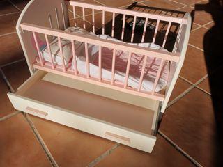Cuna de juguete bebe de madera