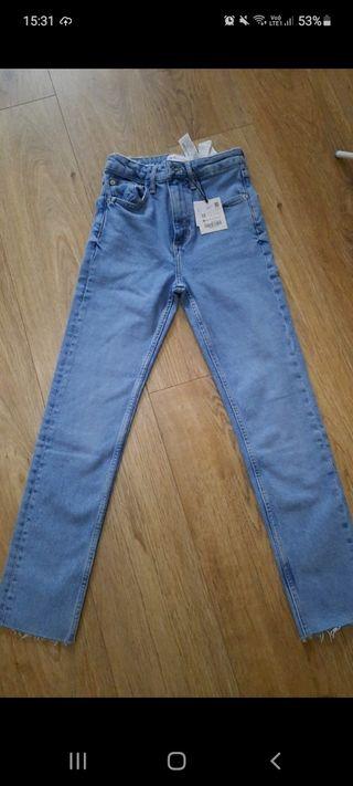 Zara jeans high waisted size 4 brand new