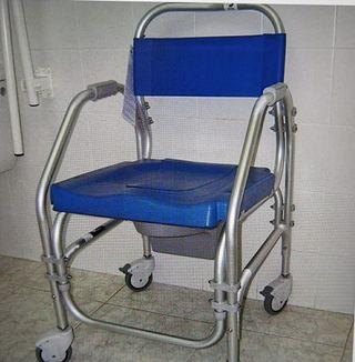 silla de ruedas para inodoro