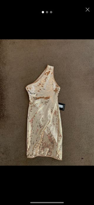 Pretty little thing gold sequin dress