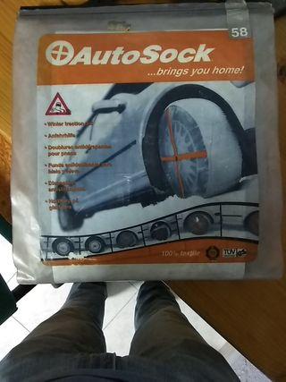 cadenas de tela para nieve auto sock