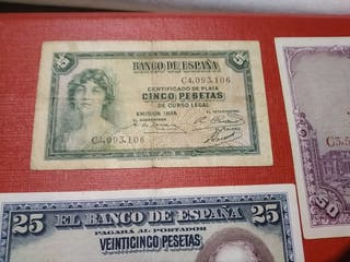Lote Billetes antiguos de España