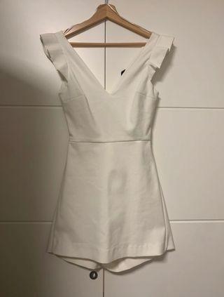 Vestido mono blanco zara