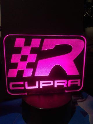 Lampara LED RGB 3D SEAT CUPRA Nueva