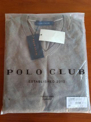 Jersey ligero cuello pico Polo Club S M L XL