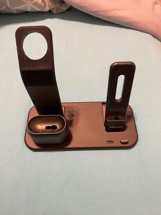 Base 3 en 1 carga iphone+apple watch+airpods
