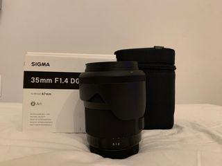 Objetivo Sigma Art 35mm 1.4