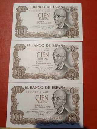 Billetes antiguos de España