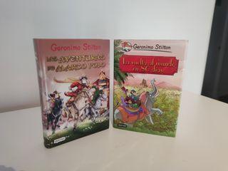"Libros de la saga de ""Gerónimo Stilton""."