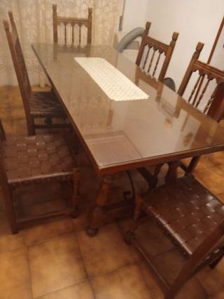 Rustico mesa + 6 sillas