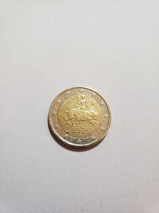 Vendo moneda 2 euros griega 2002 con S en estrella