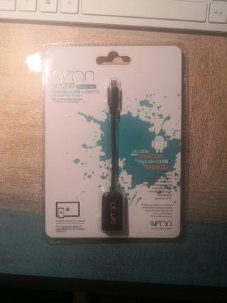 Cable Sveon micro USB a USB OTG