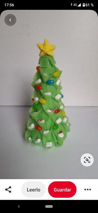 pastel árbol navidad