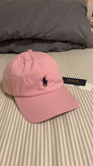 Gorra Ralph Lauren rosa palo nueva con etiquetas