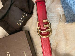 Cinturón gucci original color rojo