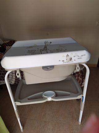 bañera con cambiador de Jane flip