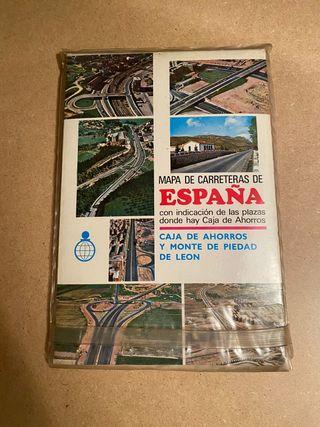 Antiguo mapa de carreteras (envío gratis)