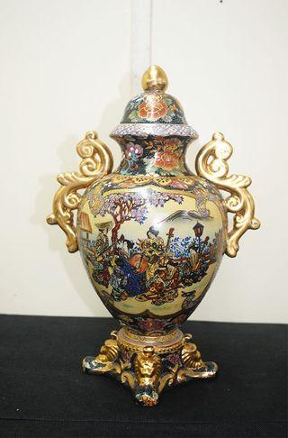 Antiguo jarrón Satsuma